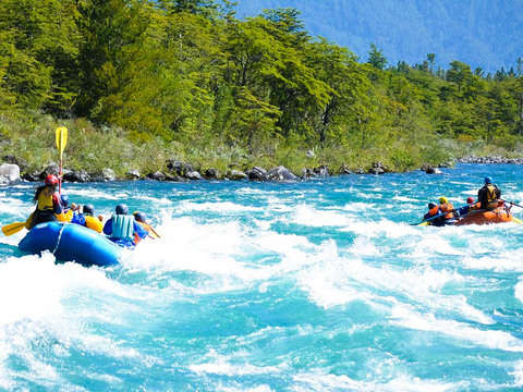 Rafting on the Petrohue River